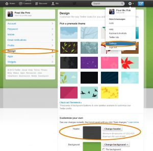 How to upload a Twitter header image