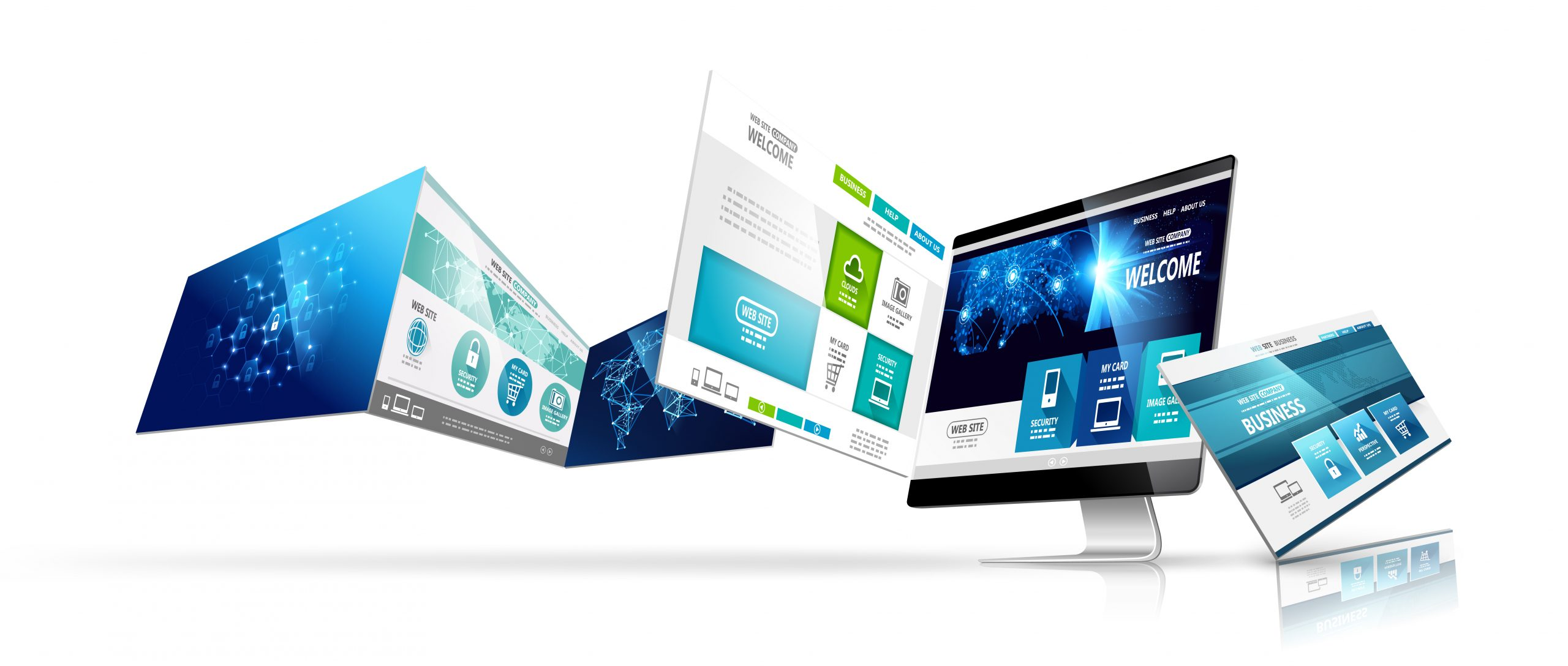 web-design-template-isolated-vector-2